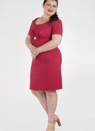 Платье красное-футляр