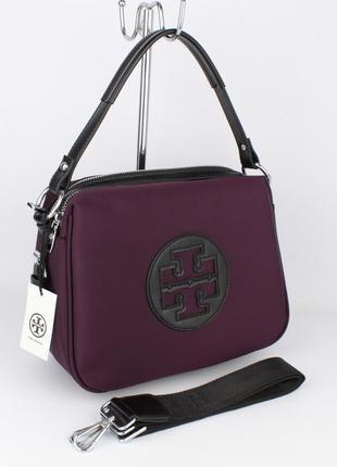 Стильная текстильная сумочка  1624 фиолетовая1