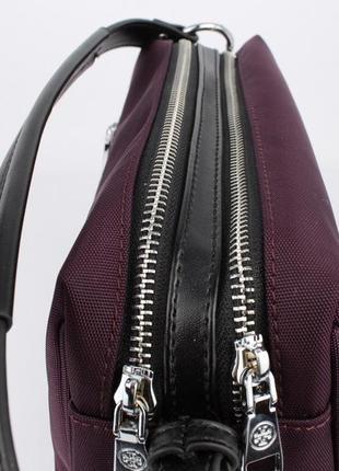 Стильная текстильная сумочка  1624 фиолетовая2