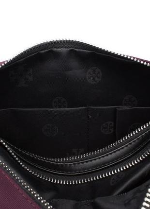 Стильная текстильная сумочка  1624 фиолетовая4