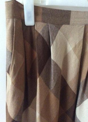 Модная тёплая  юбка в клетку швейцария шерсть2 фото