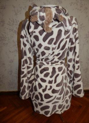 Love to lounge халат плюшевый жираф мягкий тёплый с капюшоном рм 10-122