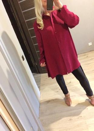 Удлиненное платье пиджак от ann harvey цвет марсала пог 681