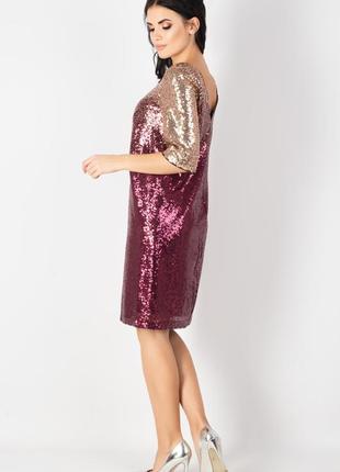 Яркое , нарядное, вечернее дизайнерское платье , 42 европ. размер4