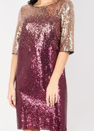 Яркое , нарядное, вечернее дизайнерское платье , 42 европ. размер3