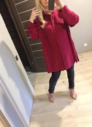 Удлиненное платье пиджак от ann harvey цвет марсала пог 682