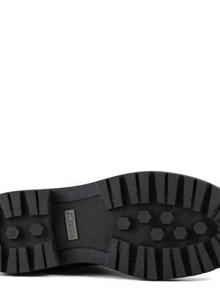 1006цп женские ботинки mariani,кожаные,на каблуке,на толстом каблуке,на толстой подошве5