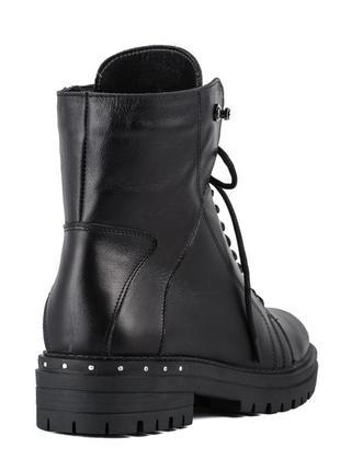 1006цп женские ботинки mariani,кожаные,на каблуке,на толстом каблуке,на толстой подошве4