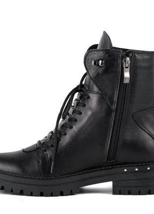 1006цп женские ботинки mariani,кожаные,на каблуке,на толстом каблуке,на толстой подошве2