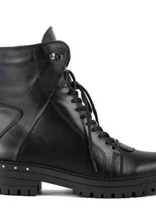 1006цп женские ботинки mariani,кожаные,на каблуке,на толстом каблуке,на толстой подошве3