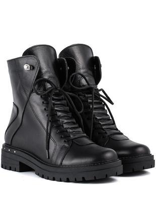 1006цп женские ботинки mariani,кожаные,на каблуке,на толстом каблуке,на толстой подошве