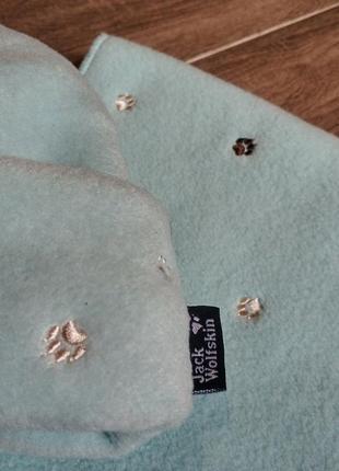 Комплект шапка шарф jack wolfskin2 фото