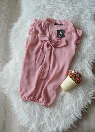 Новая блуза с бантом и рюшами atmosphere1