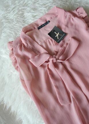 Новая блуза с бантом и рюшами atmosphere2