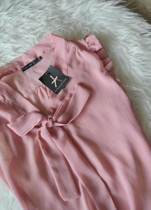 Новая блуза с бантом и рюшами atmosphere3