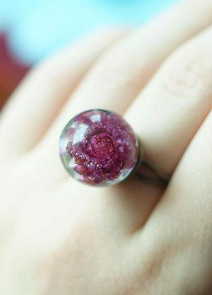 Кольцо-сфера с цветком гомфрены1