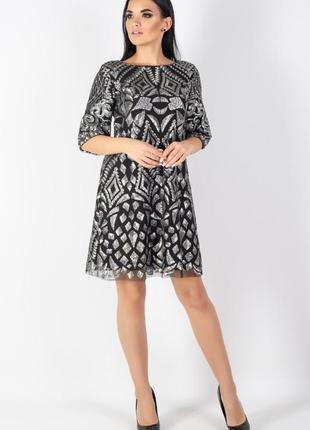 Яркое , нарядное дизайнерское платье , 42 европ. размер2