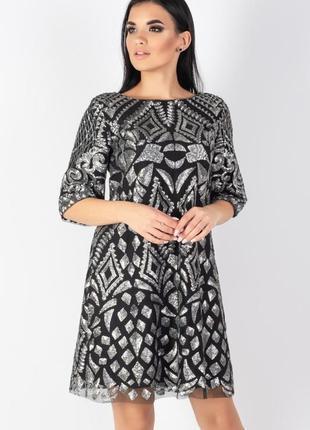 Яркое , нарядное дизайнерское платье , 42 европ. размер3
