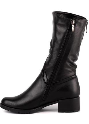 1003цп женские полусапожки jota,кожаные,на толстой подошве,на каблуке,на толстом каблуке3