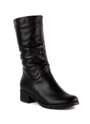 1003цп женские полусапожки jota,кожаные,на толстой подошве,на каблуке,на толстом каблуке1