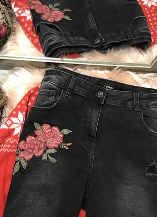 Плотные джинсы с вышивкой4