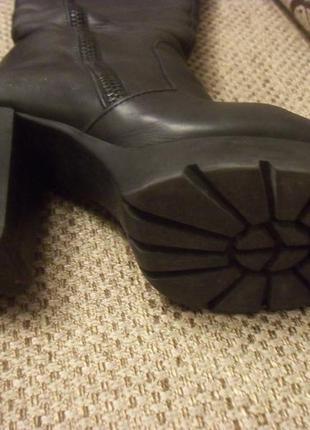 Сапоги кожаные еврозима на каблуке и тракторной подошве3