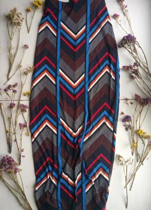 Шикарная юбка макси в геометрический принт,вискоза,юбка карандаш,летняя юбка с разрезом1