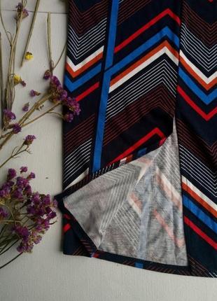 Шикарная юбка макси в геометрический принт,вискоза,юбка карандаш,летняя юбка с разрезом3