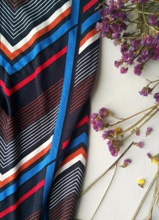 Шикарная юбка макси в геометрический принт,вискоза,юбка карандаш,летняя юбка с разрезом4
