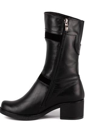 1002цп женские полусапожки jota,кожаные,на каблуке,на толстом каблуке,на толстой подошве2