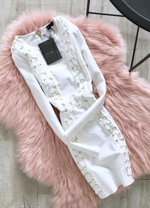 Бандажное платье премиум missguided