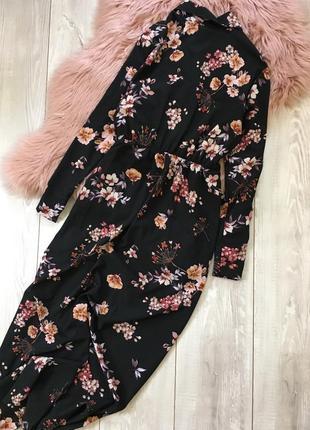 Длинное платье в цветы2