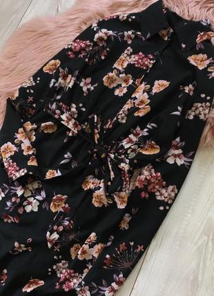 Длинное платье в цветы3