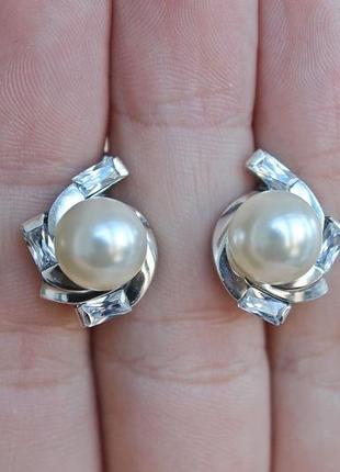 Серебряные серьги эрика1 фото
