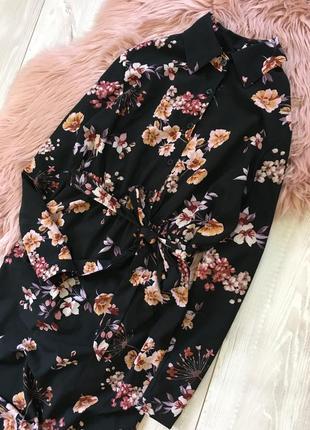 Длинное платье в цветы4