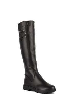 1001цп женские сапоги kento,кожаные,на толстой подошве,на каблуке,на толстом каблуке1
