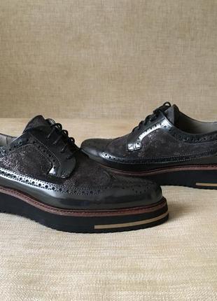 Новые кожаные туфли, броги maypol, 39-40 р.2