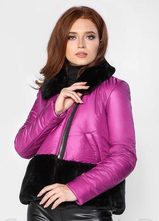 Короткая зимняя куртка с синтепоновым утеплителем s m l xl1