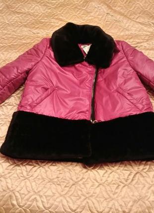 Короткая зимняя куртка с синтепоновым утеплителем s m l xl2