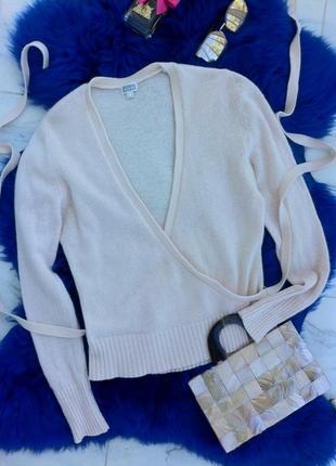 Ангоровая кофта-джемпер с запахом. кофточка. футболка. блуза. рубашка. майка. h&m2 фото