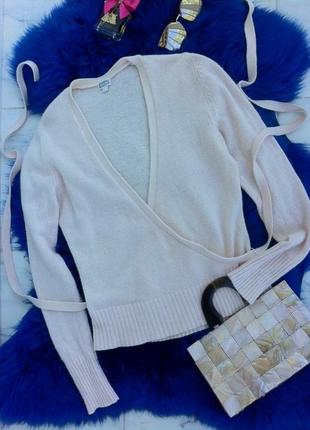 Ангоровая кофта-джемпер с запахом. кофточка. футболка. блуза. рубашка. майка. h&m3 фото