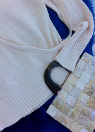 Ангоровая кофта-джемпер с запахом. кофточка. футболка. блуза. рубашка. майка. h&m4 фото