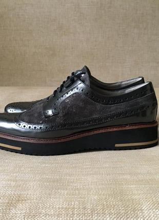 Новые кожаные туфли, броги maypol, 39-40 р.3