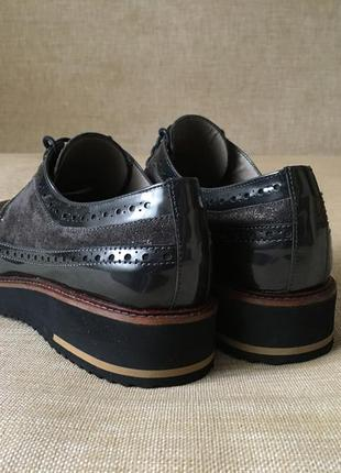 Новые кожаные туфли, броги maypol, 39-40 р.4