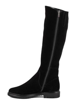 1000цп женские сапоги kento,замшевые,на толстой подошве,на каблуке,на низком ходу2