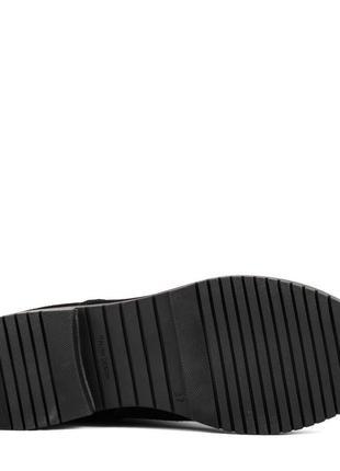 1000цп женские сапоги kento,замшевые,на толстой подошве,на каблуке,на низком ходу5