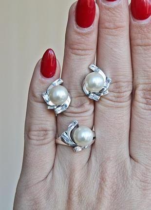 Серебряный набор эрика (кольцо 18) скидка 10%!2 фото