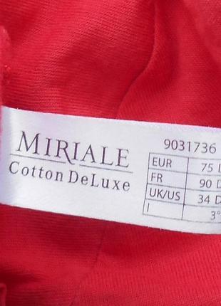 Хлопковый сексуальный эротический вышитый  бюстгальтер  miriale cotton deluxe 75с3