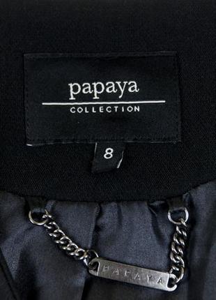 Черный плотный жакет от  papaya рр 8 наш 423