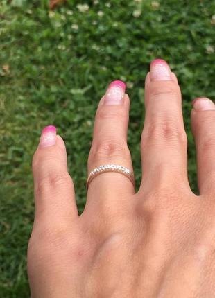 Кольцо серебряное эжени 10015
